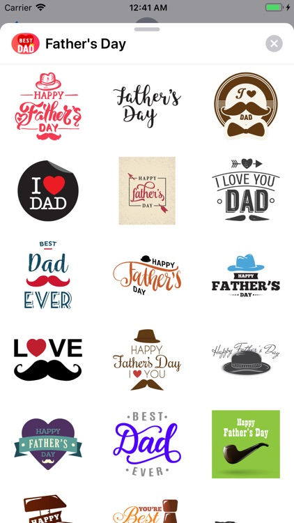 Happy Fathers Day Cards Pack