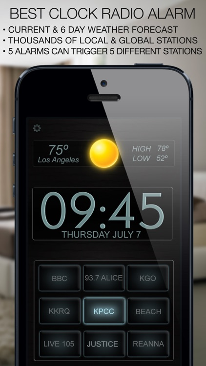 Best Clock Radio Alarm f screenshot-0