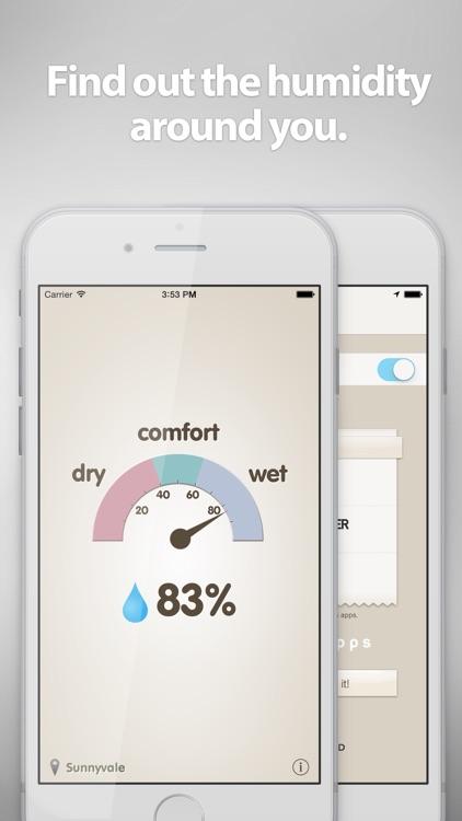 Hygrometer -Check the humidity