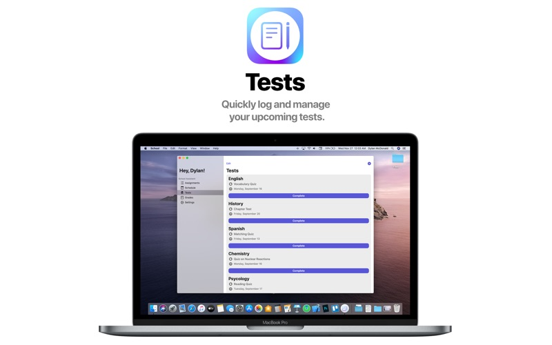 School Assistant – Planner for Mac