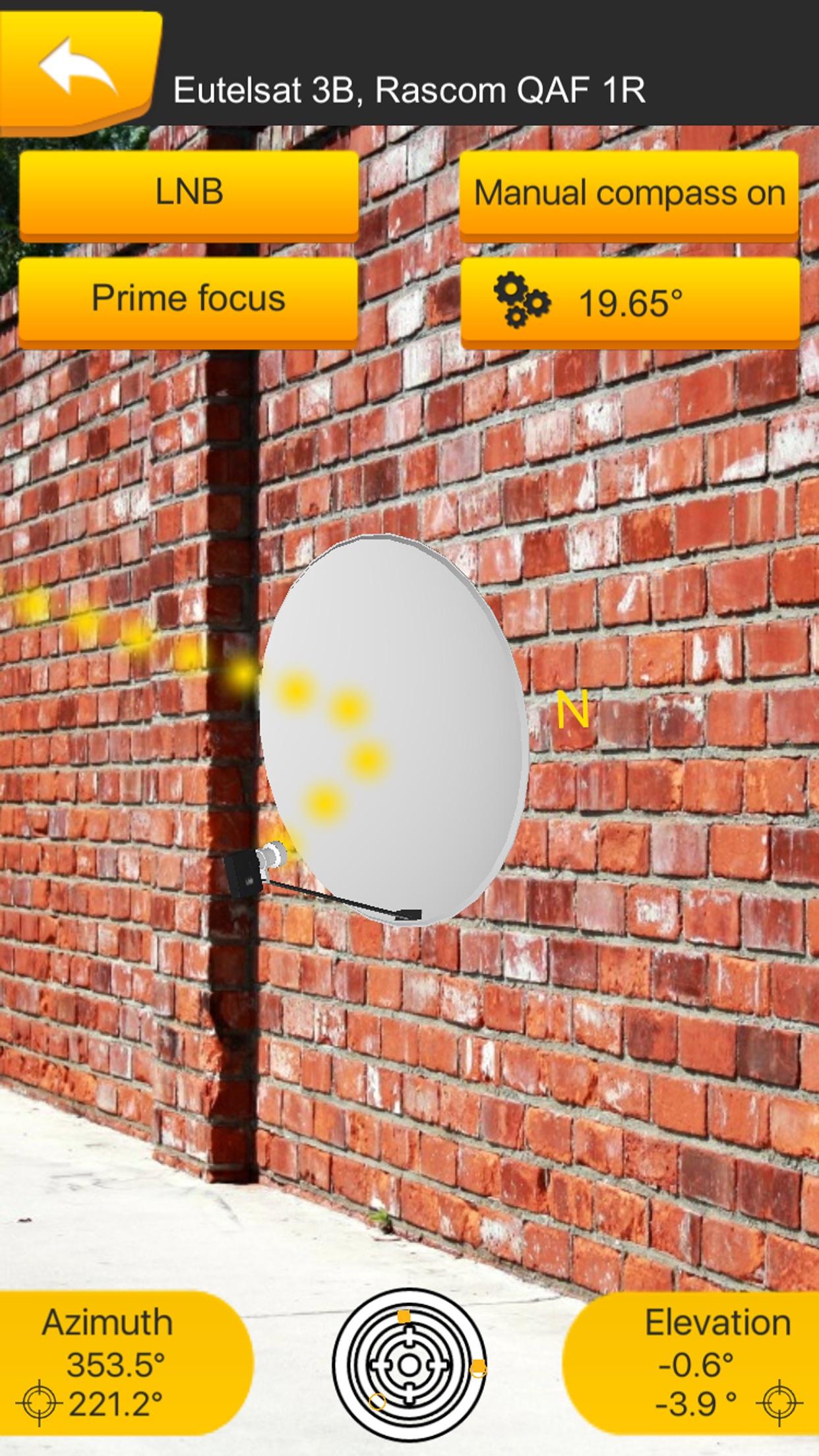SatFinder 3D Augmented Reality Screenshot