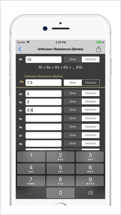 Electrical Calculator lite screenshot-3