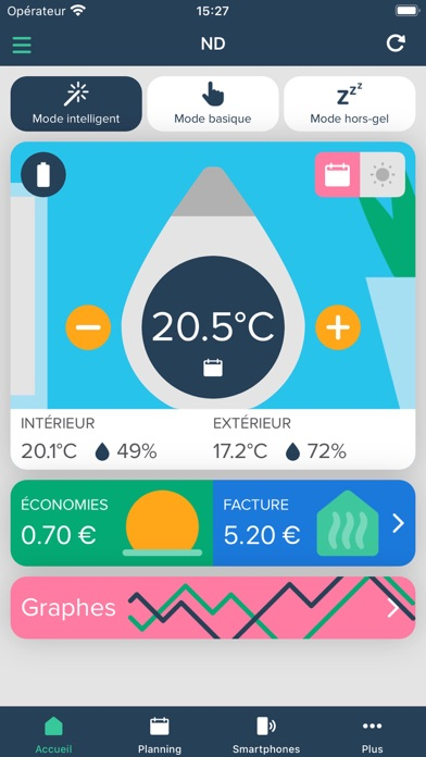 Screenshot #1 pour Ween Thermostat Connecté