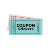 Retro Love Coupon Stickers