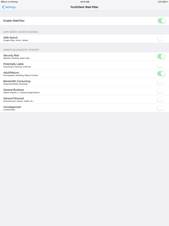 FortiClient by Fortinet (iOS, United States) - SearchMan App Data