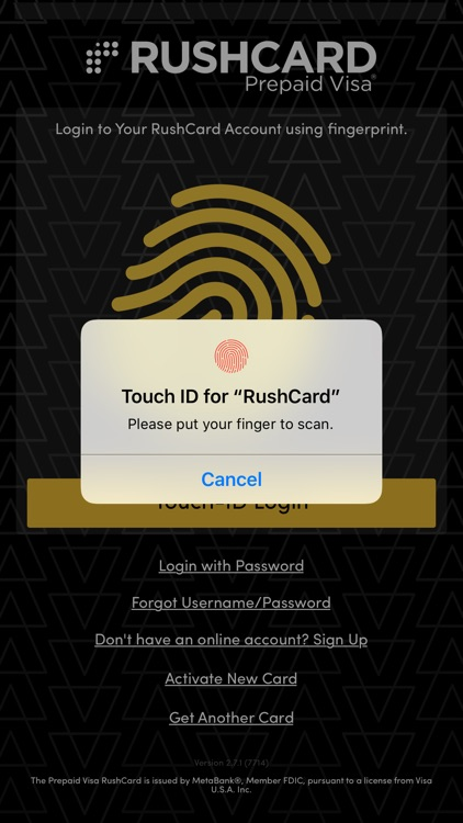RushCard screenshot-0