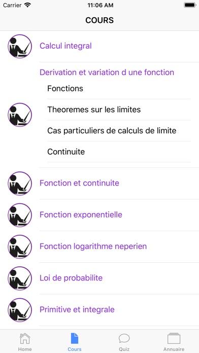 Maths Terminale ES screenshot 4