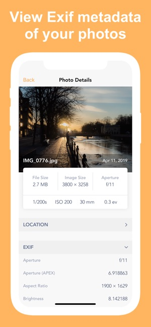 Exif Metadata Screenshot