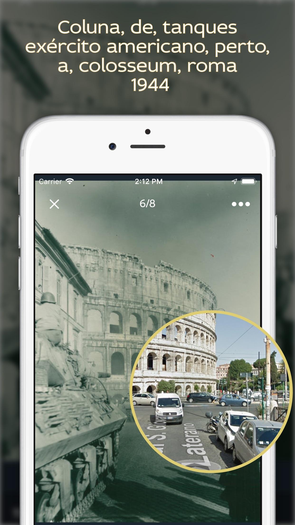 Screenshot do app História do mundo em fotos