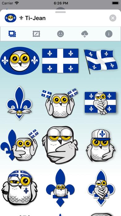 Ti-Jean Le Harfang • Stickers screenshot 2