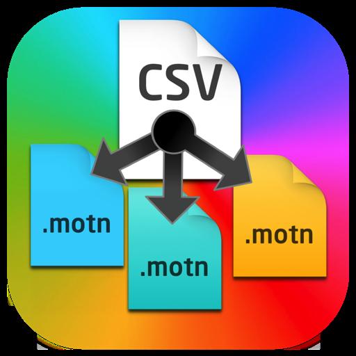Csv to Motn Generator for Mac