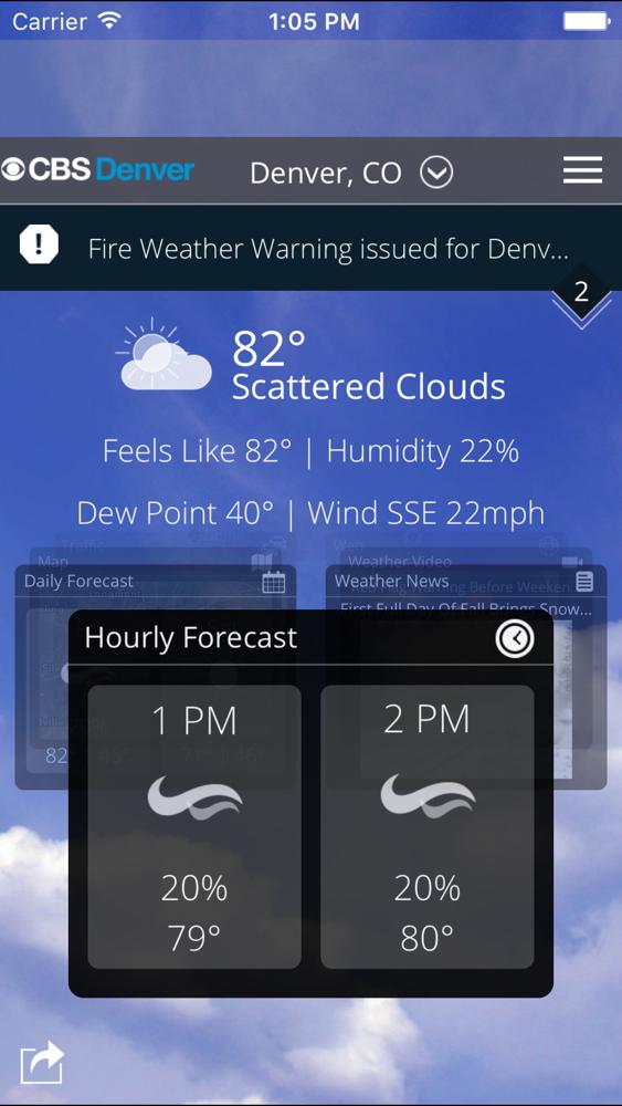 CBS Denver Weather App for iPhone - Free Download CBS Denver
