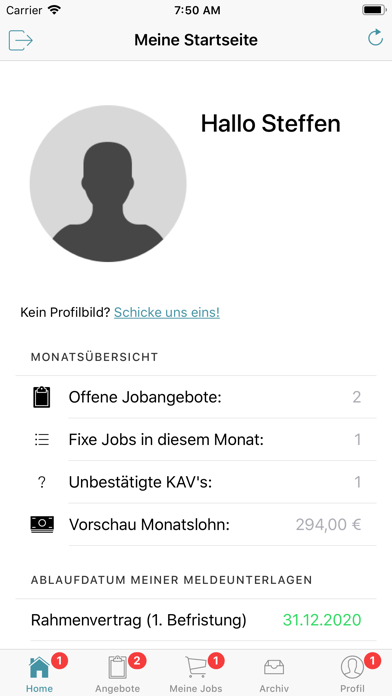 JobWerk screenshot 2
