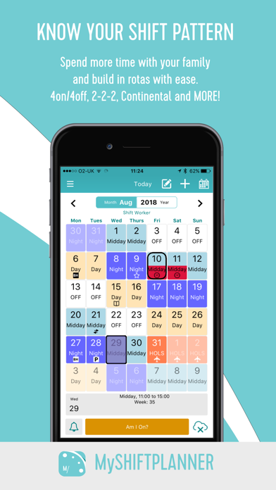 My Shift Planner – Calendar