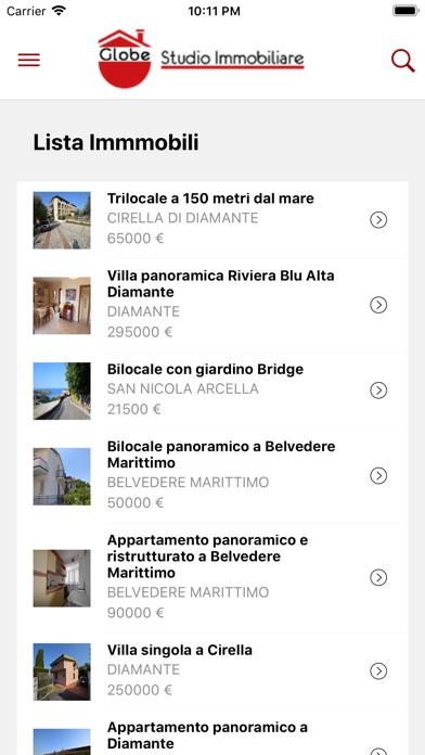 Screenshot of Globe Studio Immobiliare2