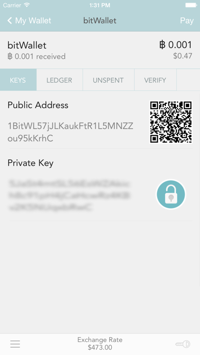 bitWallet™  —  Bitcoin Wallet - 窓用