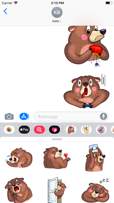 Screenshot for Funny Bear Sticker Pack in Turkey App Store