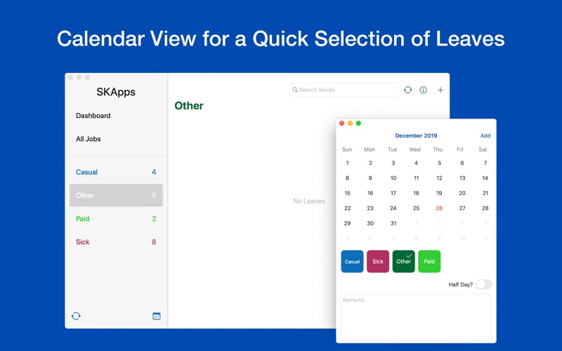 Time Off - Leave Tracker for Mac