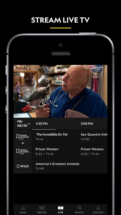 Nat Geo TV: Live & On Demand Screenshot