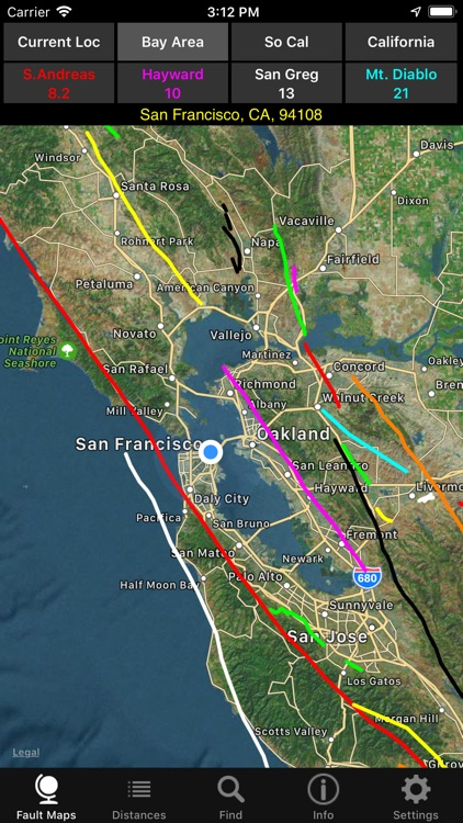 California Earthquake Faults screenshot-1
