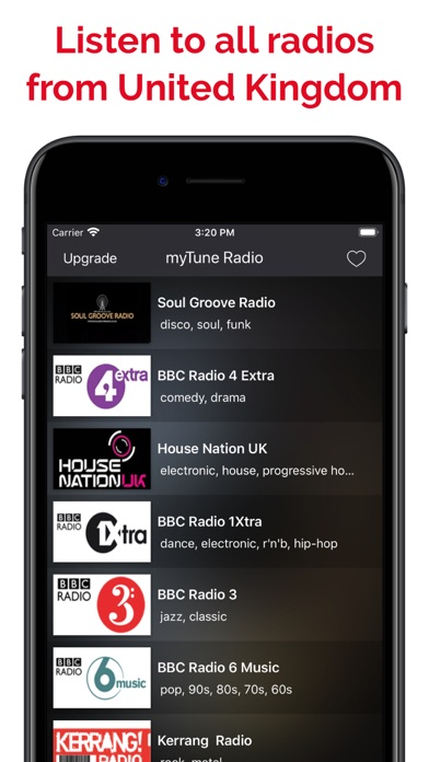 myTune Radio UK FM, AM screenshot 1