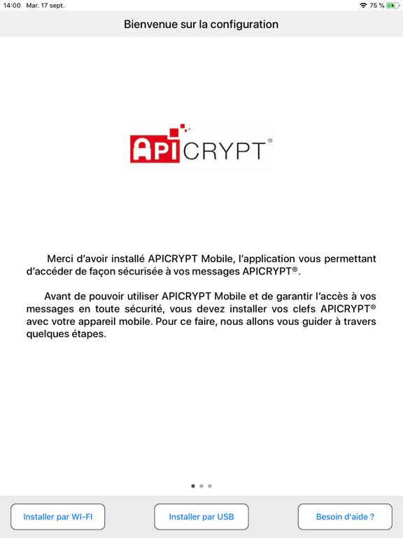 Screenshot #4 pour APICRYPT Mobile