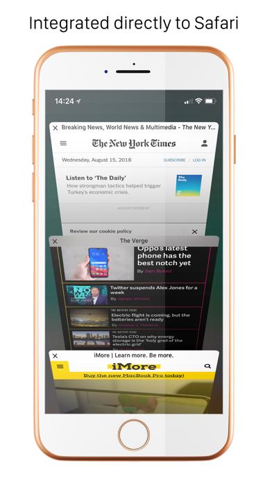 Handblock - Block Safari ads Screenshots