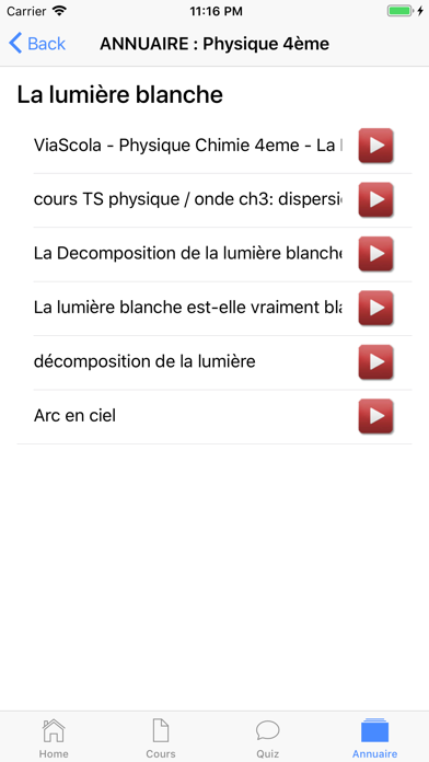 Physique 4ème screenshot 6