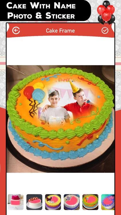 Cake With Name Photo & Sticker