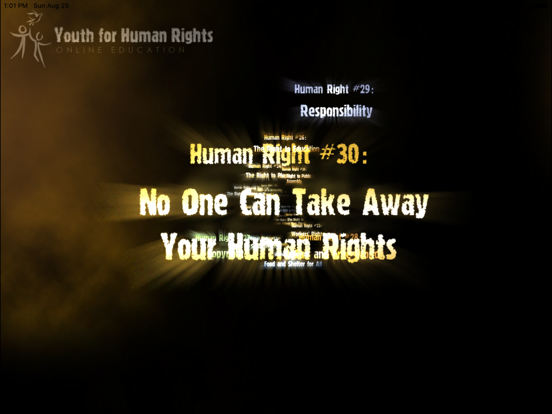 Youth for Human Rights Online Education screenshot