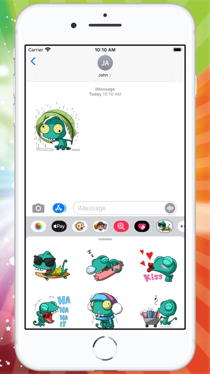 Naughty Chameleon Stickers screenshot-3