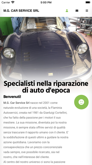 M.G. Car Service Screenshot