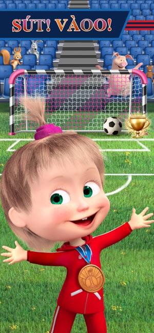 Masha và chú gấu: Bongda game