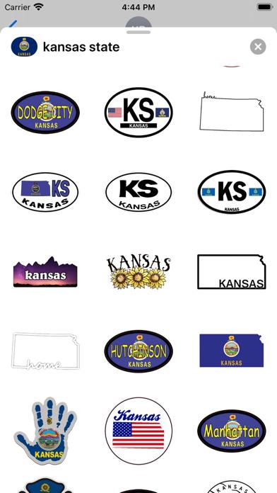 Kansas emoji - USA stickers screenshot 2