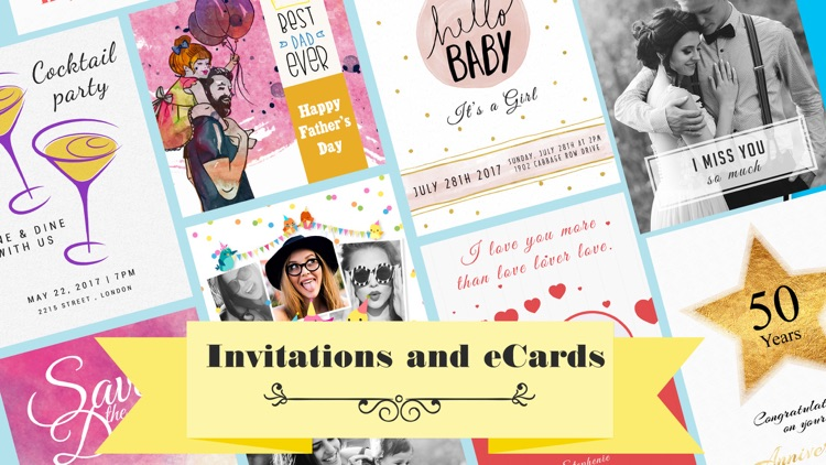 Invitation Maker & Party Cards screenshot-0