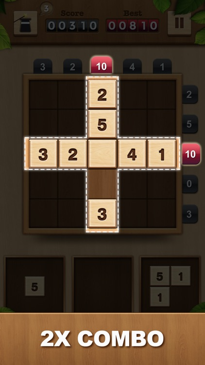 TENX - Wooden Number Puzzle