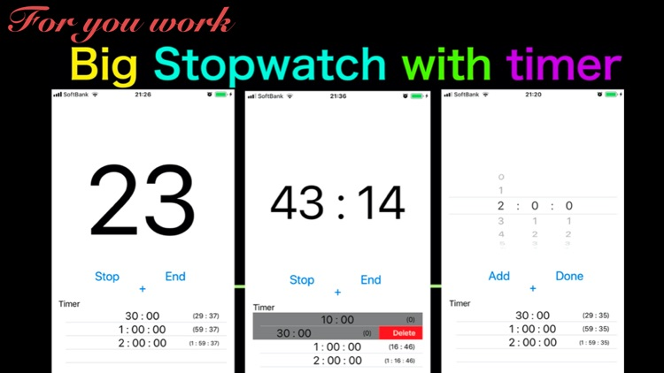 rururu: Big Stopwatch for work