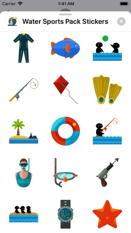 Water Sports Pack Stickers