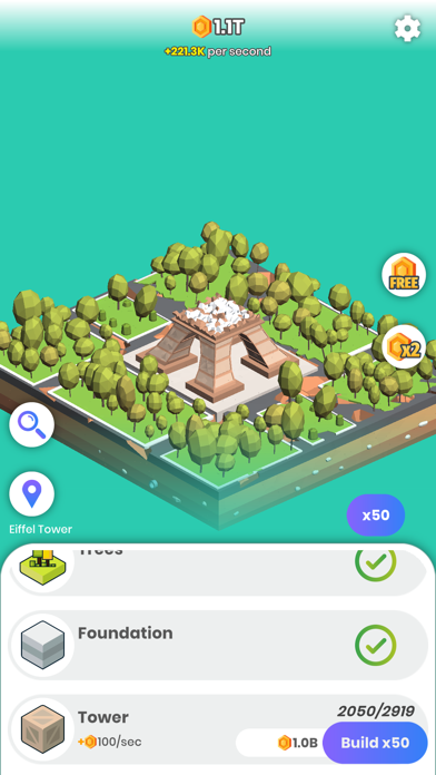 Idle Landmarks screenshot 3
