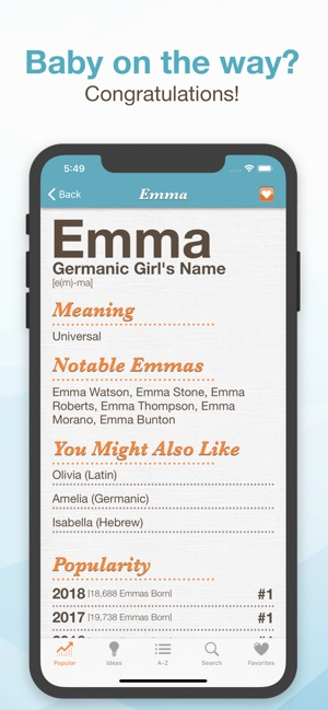 Baby Names™ on the App Store
