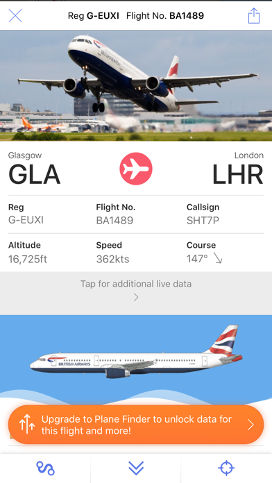Plane Finder Lite by pinkfroot limited (iOS, United Kingdom