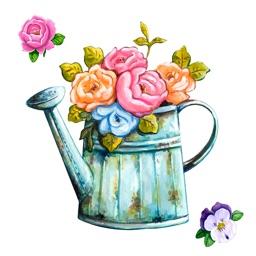 Watercolor Gardening Sticker