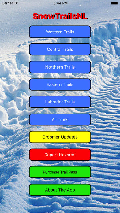 Screenshot for SnowTrailsNL in United States App Store