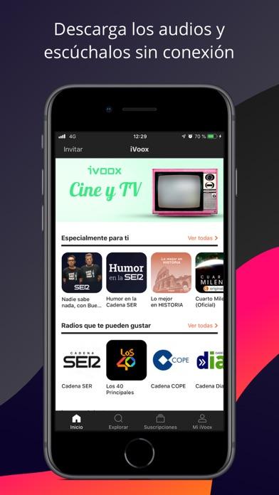 Radio y Podcast iVoox App Análisis y Crítica - News - Apps ...