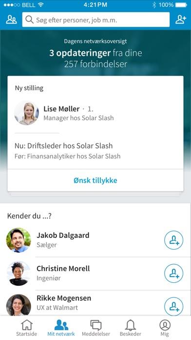 Screenshot for LinkedIn in Denmark App Store