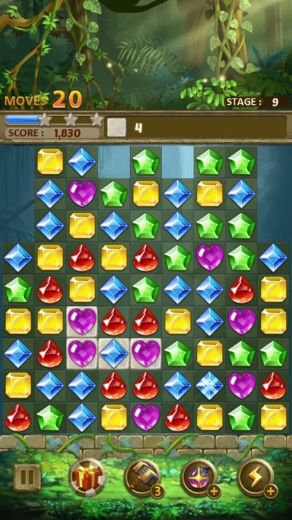 Jewels Jungle : Match 3 Puzzle screenshot-8