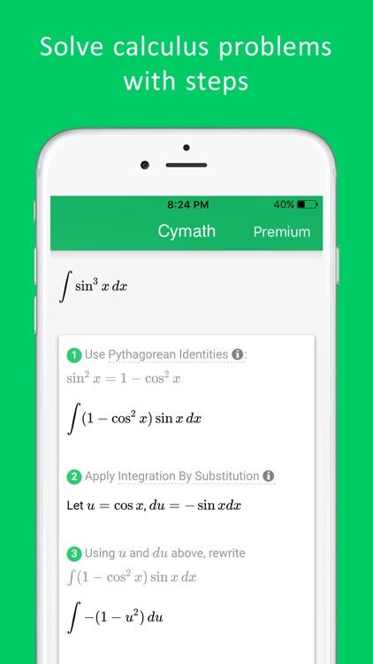 Cymath - Math Problem Solver screenshot-4