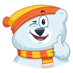 Kitty Bear Emoji Funny Sticker