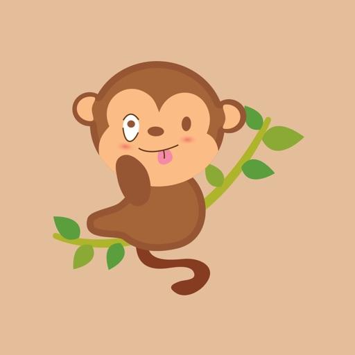 funny monkey sticker 2019