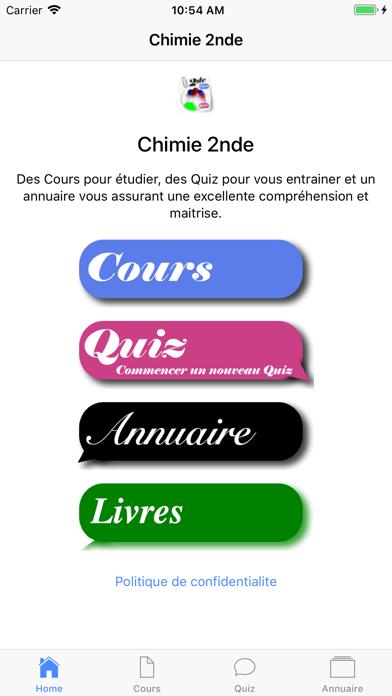 Chimie Seconde screenshot 1